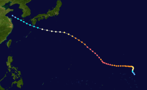 Origin and Track of Typhoon Fengshen