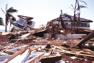 Structural Damage caused by Iniki's fierce winds