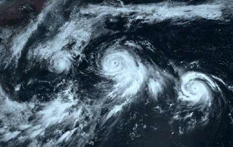 3 Typhoons head west